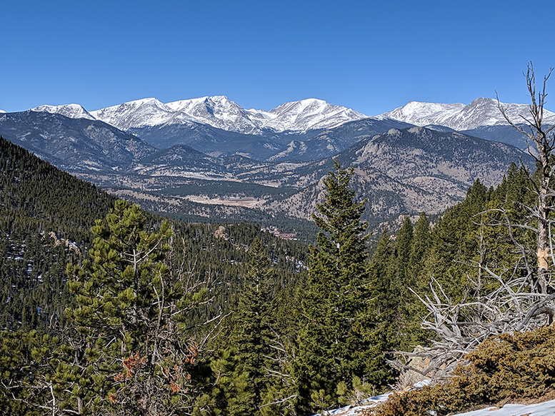 The Mummy Range in Rocky Mountain National Park