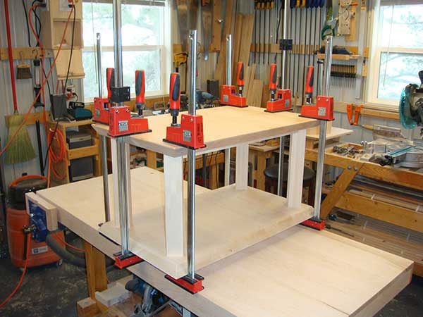 Bessey K Body Revo clamps in action