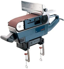 Bosch 1274DVS Belt Sander on stand