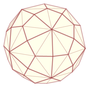 Image of a kumiko variation that shows a hexakis icosahedron