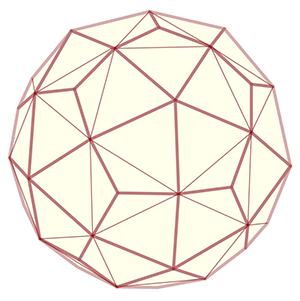 Image of a kumiko variation that reveals an icosidodecahedron