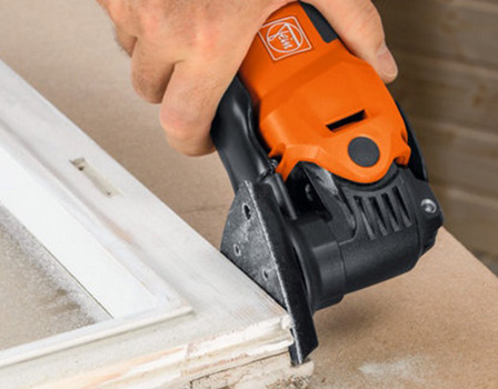 Fein MultiMaster with triangular sanding attachment