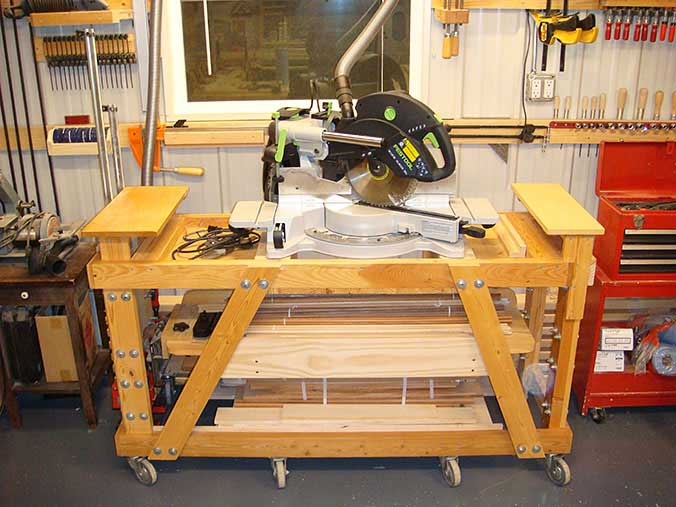 Festool Kapex 120 on custom stand