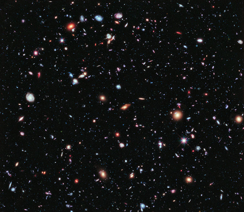 Hubble eXtreme Deep Field (XDF). Credit: NASA, ESA, G. Illingworth, D. Magee, and P. Oesch (University of California, Santa Cruz), R. Bouwens (Leiden University), and the HUDF09 Team