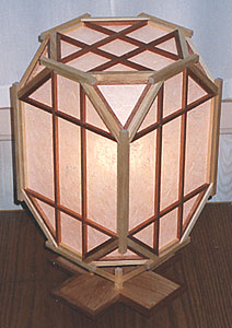 My first golden rectangle lamp - view from above
