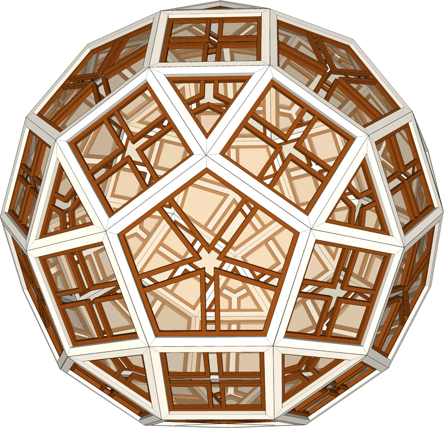 Rhombicosidodecahedron drawn in SketchUp - Click to return