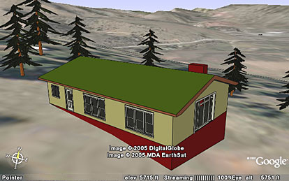 SketchUp drawing in Google Earth