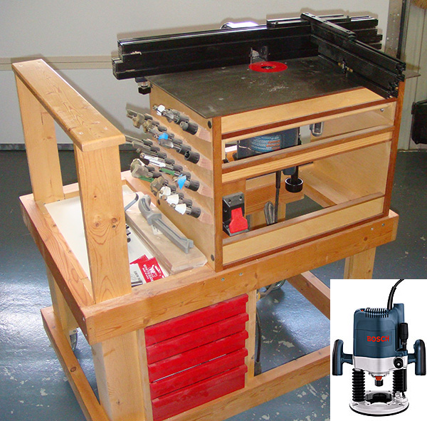 plunge router table