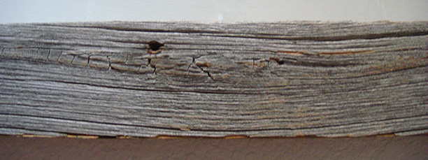 Weathered frame detail