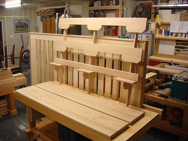 The headboard planks and frame